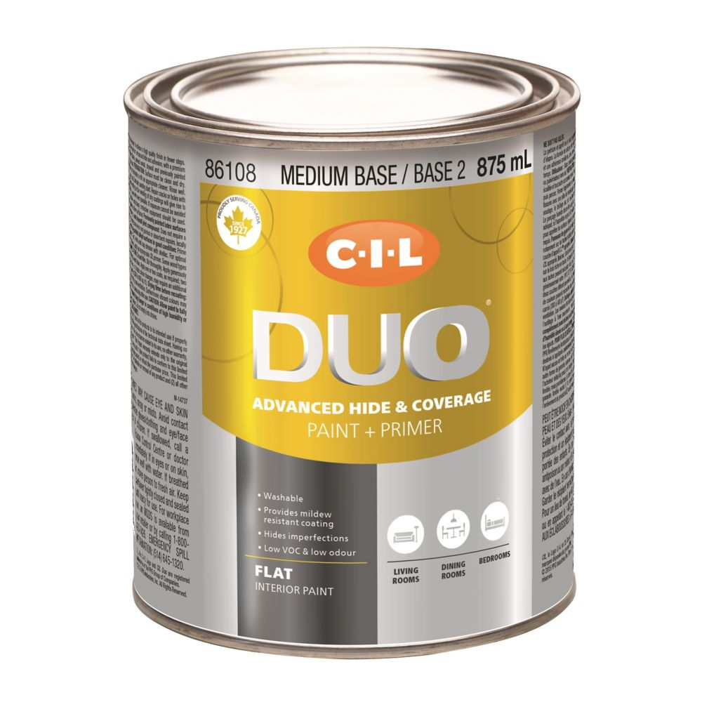 CIL DUO Interior Flat Medium Base / Base 2, 875 mL